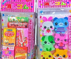 erasers, rainbowcore, and japan image