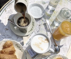 coffe, drink, and food image