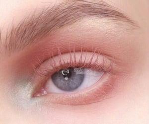 pink, blue, and makeup image