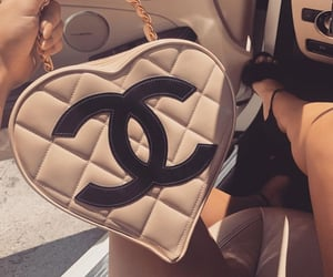 bag, beige, and heart image