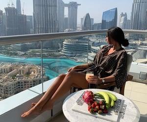 Dubai, food, and girl image