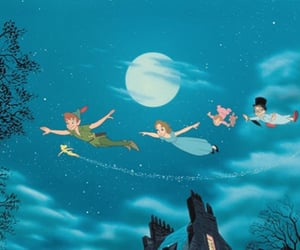 disney, peter pan, and tinkerbell image