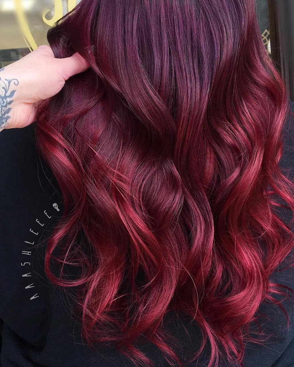 burgundy hair color and claret hair color image