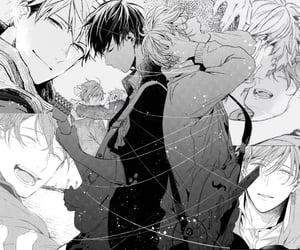 anime, feelings, and b w image