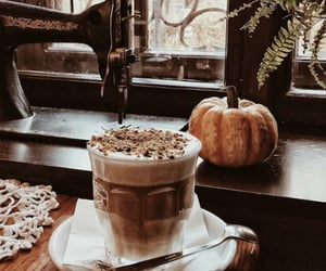 autumn, coffee, and pumpkin image