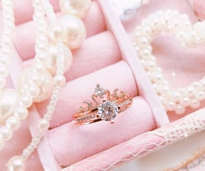 jewelry, pearl, and pink image