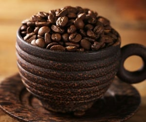 brown, coffee beans, and coffee cup image