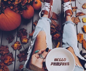 autumn, latte, and coffeetime image
