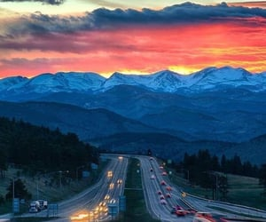 colorado, mountains, and sunset image