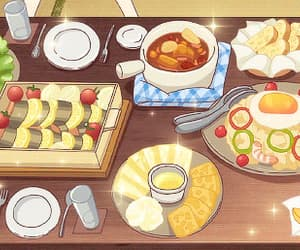 anime, breakfast, and fruits basket image