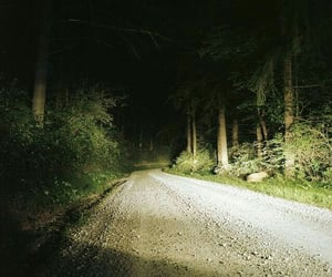 forest, dark, and road image