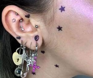 earrings, aesthetic, and Piercings image