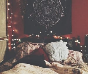 bedroom, cool, and cat image