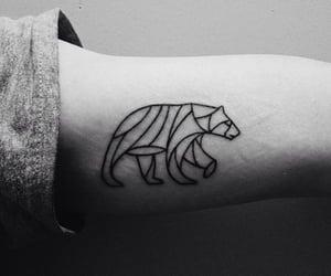 Polar Bear and tattoo image