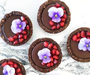 chocolate, food, and tart image