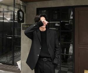 boy, korean, and black image