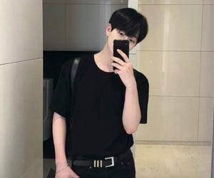 asian boy, asian fashion, and belt image