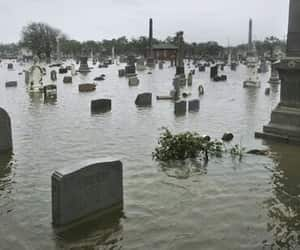 aesthetic, cemetery, and flooded image
