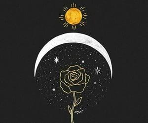 espacio, estrellas, and flor image