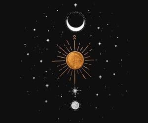 espacio, estrellas, and luna image