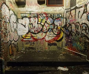 chaos, graffiti, and grunge image