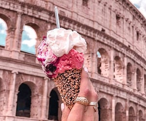 aesthetic, colosseum, and food image