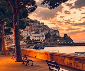 italy, sunset, and travel image