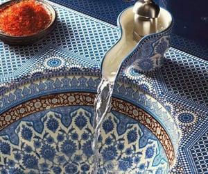blue, sink, and design image
