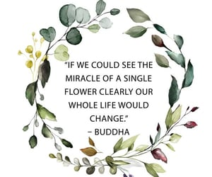 Buddha, flowers, and green image