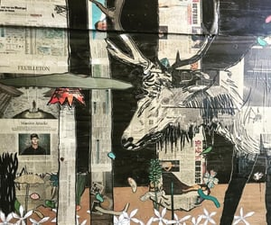 antlers, art, and seattle image