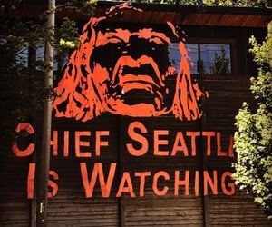 art, red, and seattle image