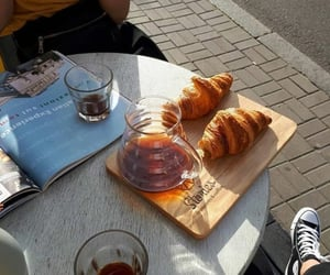 coffee and croissants image