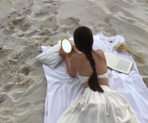 art, beach, and books image