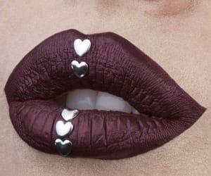 art, make-up, and lips image