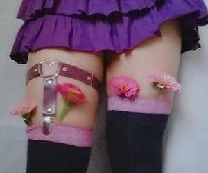 choker, flower, and purple image