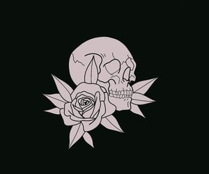 aesthetic, black and white, and calavera image