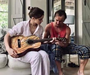 emma watson, guitar, and hermione granger image