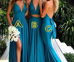 wedding party dress, cheap bridesmaid dresses, and bridesmaid dresses 2020 image