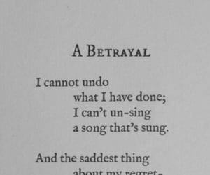 poem, betrayal, and quotes image
