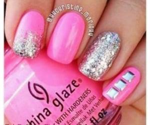nails, pink, and chinaglaze image