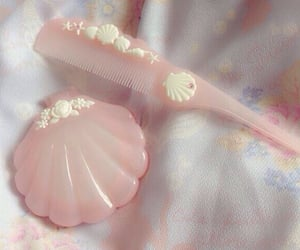 pink, mermaid, and pastel image