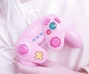 aesthetic, pink, and video games image