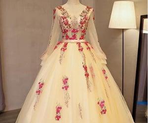dress, girl, and lovely image