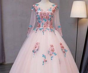 dress, girl, and pink image