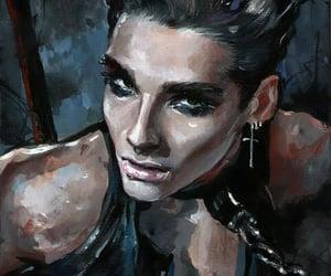 bill kaulitz, fan art, and painting image