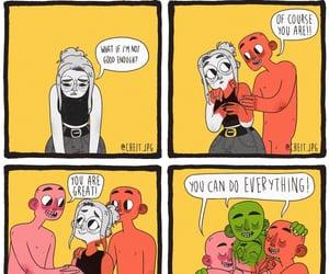 comic, happy, and sad image