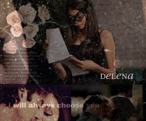 damon, delena, and tvd image