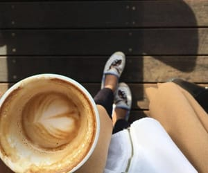 coffee, black, and girl image