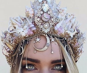 crown, beauty, and eyes image