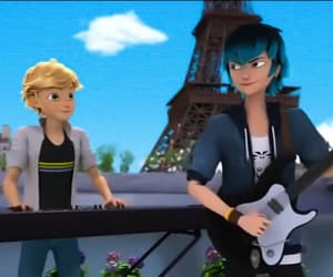 Adrien, luka, and Chat Noir image